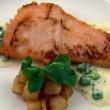 Thumbnail for Machrie River Salmon with Wild Sorrel, Sauté Potatoes and Peas