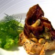 Thumbnail for Dundrum Mussel Tartlet with Curried Spices and Crispy Bacon