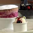 Thumbnail for Rathmullan Blackcurrant Soufflé with Vanilla Ice Cream