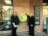 The defib at our Lakes & Dales Lazonby store