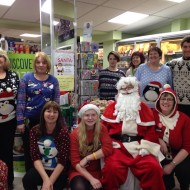 Raising funds and awareness for Alzheimer's Society by holding a fun day in store, where Santa stopped by to visit the local children and there was competitions such as Guess the Weight of the Christmas Cake being held in store.