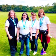Caroline Pringle, Becky Smith, Marie Armstrong & Katie Kipling took part in a 5km Memory Walk in aid of Alzheimer's Society raising over £500. The event saw hundreds of people turn out to raise funds and awareness.